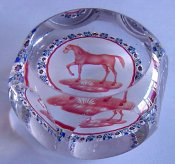 Baccarat glass paperweight