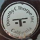 Dorothy Thorpe glass label